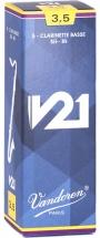 Vandoren Boite De 5 Anches - Clarinette Basse - Cr8235 - V21 3.5