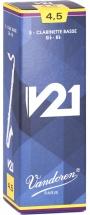 Vandoren Boite De 5 Anches - Clarinette Basse - Cr8245 - V21 4.5