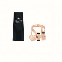 Vandoren Ligature M/o Alto Plaque Or Rose Et Couvre Bec Plastique - Lc57pgp