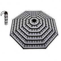 Vienna World Mini Parapluie  - Motif Clavier Noir Et Blanc