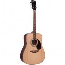 Vintage Guitars V400n Western Guitar Natural