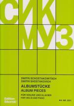 Chostakovitch D. - Album De Pieces Pour Violon Et Piano