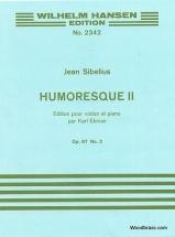 Sibelius J. - Humoresque Op.87 N°2 - Violon and Piano