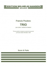 Poulenc Francis - Trio Pour Piano, Hautbois and Basson - Score and Parts (revised Edition)