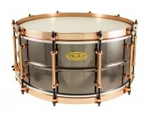 Worldmax Bk-6514sfxg - Caisse Claire Black Dawg 14 X 6.5 Aztec Gold Vintage - Fut Laiton