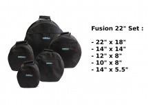 Woodbrass Housses Fusion 22 - Noir
