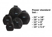 Woodbrass Housses Batterie Power Standard 22 / 10 / 12 / 16 / 14 X 5.5 - Noir