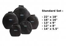 Woodbrass Housses Batterie Standard 22 / 12 / 13 / 16 / 14 X 5.5 - Noir