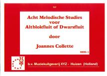 Collette Joannes - Eight Melodic Studies Part 1 - Descant Recorder And Piano