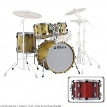 Yamaha Absolute Hybrid Maple Fusion 20x16 + 10 12 14 Red Autumn