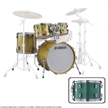 Yamaha Absolute Hybrid Maple Jazz 18x14 + 10 12 14  Jade Green Sparkle