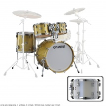 Yamaha Absolute Hybrid Maple Jazz 18x14 + 10 12 14  Polar White