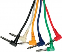 LOT DE 6 CABLE PATCH YELLOW CABLE ECO PO30C/6 - JACK MONO COUDE / JACK MONO COUDE 30CM
