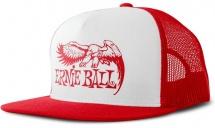 Ernie Ball Casquette Rouge Et Blanc Logo Aigle Eb Rouge