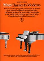 More Classics To Moderns Vol 5 - Piano