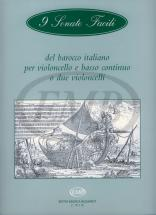 9 Sonates Faciles Du Baroque Italien - Violoncelle Et Bc Ou Deux Violoncelles