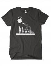 Ze Barnyshop Tee-shirt Femme Gris Fonce/ Blanc S