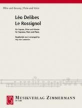 Delibes Leo - Le Rossignol - Soprano, Flute and Piano