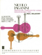 Paganini N. - 12 Duets Vol.2 For Violin and Guitar - N° 7-12