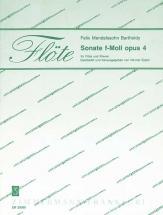 Mendelssohn Felix - Sonate F-moll Op.4 - Flute Et Piano