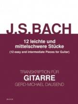 Bach J.s. - 12 Morceaux Faciles Et Intermediaires - Guitare