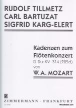 Mozart W. A. - Kadenzen Zum Flotenkonzert Kv 314 (285d)
