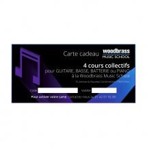 Woodbrass Club Carte Cadeau Woodbrass Music School 4 Cours Collectifs