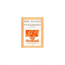 Dutilleux Henri - Petit Air A Dormir Debout - Transcription Pour Deux Guitares - 2 Guitares