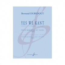 Dubedout Bertrand - Yes We Kant - Percussion Seule