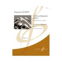 Guyot V. - 10 Pieces Pedagogiques Graduees Vol.2 - Clarinette Et Piano