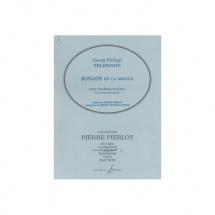 Telemann Georg-philipp - Sonate En La Mineur - Hautbois Et Piano