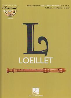 Loeillet De Gant Jean-baptiste - Sonate En Sol Majeur Op.1 N°3 + Cd - Flute A Bec Alto
