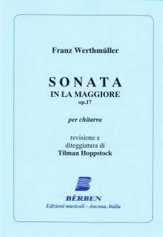 Werthmuller F. - Sonata La Maggiore Op.17 - Guitare