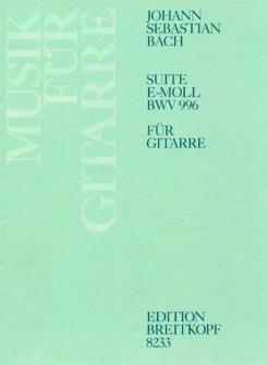 Bach J.s. - Suite E-moll Bwv 996 - Guitare
