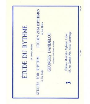 Dandelot Georges - Etude Du Rythme Vol.3