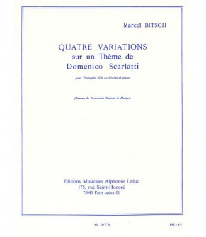 Bitsch Marcel - Quatre Variations Sur Un Thème De Domenico Scarlatti
