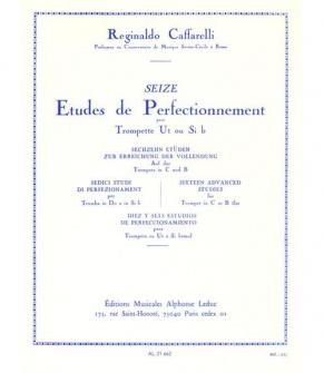 Caffarelli - 16 Etudes De Perfectionnement Pour Trompette Ut Ou Si B