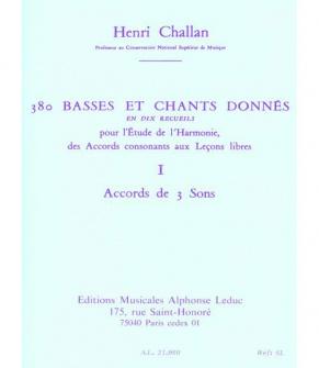 Challan H. - 380 Basses Et Chants Donnes Vol.1a Textes