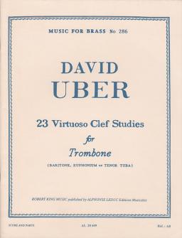 Uber David - 23 Virtuoso Clef Studies For Trombone