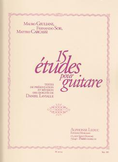 Giuliani, Sor, Carcassi - 15 Etudes Pour Guitare