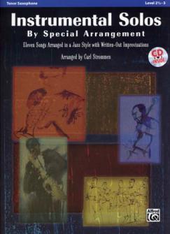 Strommen Carl - Instrumental Solos By Special Arrangement + Cd - Saxophone Tenor