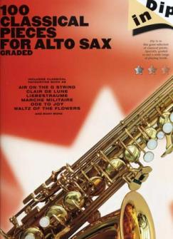 100 Classical Pieces For Alto Sax Graded Dip In - Saxophone