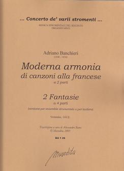 Banchieri Adriani - Moderna Armonia Di Canzoni Alla Francese Op 26