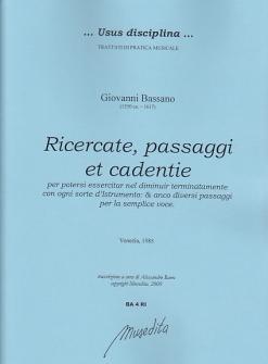 Bassano Giovanni - Ricercate, Passaggi Et Cadentie