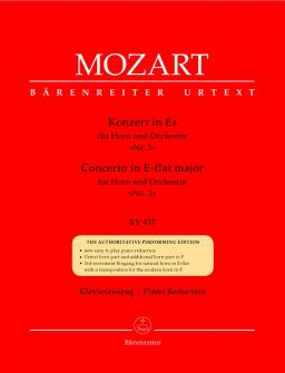 Mozart W.a. - Concerto N°2 En Mib Majeur Kv 417 Pour Cor Et Orchestre - Cor, Piano