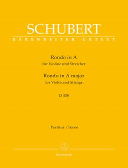 Schubert Franz - Rondo For Violin And Strings In A Major D 438 - Score