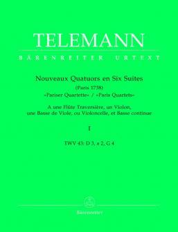 Telemann G.p. - Nouveaux Quatuors En 6 Suites Paris Quartets Vol.1 - Flute, Violon, Viole De Gambe