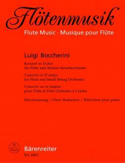 Boccherini, Luigi - Konsert Fur Flote Und Streicher D-dur Op. 27 - Flute, Piano