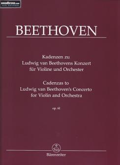 Beethoven L.van - Cadences Des Concertos De Ludwig Van Beethoven Pour Violon Et Orchestre Op.61
