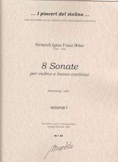 Biber Heinrich Ignaz Franz Von - Sonate Dette N�rnberger - Violon Et Basse Continue